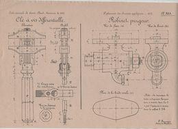 Planche Ecole Normale Saint Cloud Concours 1910 Beauvais Dessin De Machines - Sciences & Technique