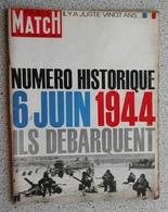 """PARIS MATCH N° 791 DU 6 JUIN 1964 - NUMERO HISTORIQUE """"ILS DEBARQUENT"""" - Histoire"""