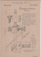 Planche Ecoles Arts Et Métiers Concours 1908 Trusquin Beauvais Dessin De Machines - Unclassified
