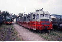 Reproduction D'une Photographie De Plusieurs Trains CFD Tence-Dunières à Vivarais-Velay En 1975 - Repro's