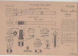 Planche Ecoles Arts Et Métiers Concours 1911 Fût à Rochet Beauvais Dessin De Machines - Sciences & Technique