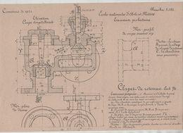 Planche Ecoles Arts Et Métiers Concours 1921 Clapet De Retenue  Beauvais Dessin De Machines - Unclassified