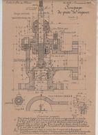 Planche Ecoles Arts Et Métiers Concours 1917 Soupape De Prise De Vapeur   Beauvais Dessin De Machines - Unclassified