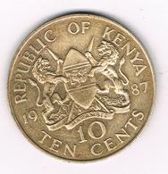 10 CENTS  1987 KENIA /136G/ - Kenya