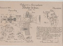 Planche Professorat Sciences Appliquées Examen 1913 Butée De Tour  Beauvais Dessin De Machines - Unclassified