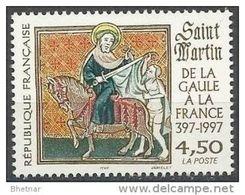 """Timbre France YT 3078 """" Saint Martin De La Gaule à La France 397-1997  """" 1997 Neuf - France"""
