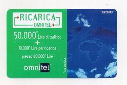 """Ricarica Telefonica """" OMNITEL """" Da Lire 50.000 - Usata - Validità 30.11.1999 -  (FDC7707) - Italy"""