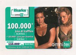 """Ricarica Telefonica """" OMNITEL """" Da Lire 100.000 - Usata - Validità 12.2003 -  (FDC7708) - Italy"""