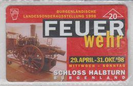 AUSTRIA 1998 FEUER WEHR SCHLOSS HALBTURN BURGENLAND MINT PHONE CARD - Austria
