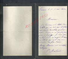 LETTRE ECRITE DE SARENNES OU SARENNE 1912 : - Manuscripts