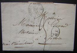 1843 Vitry Le François Lettre De Gerardin, Négociant Pour Epense (voir Photos) - Marcophilie (Lettres)