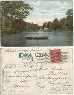 Cincinnati Ohio Burnet Woods , Looking Up The Lake - Color PPC 28aug1909 To Italy With C.2 Prexies - Cincinnati