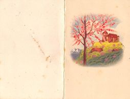 """07256 """"CALENDARIETTO 1953 - PAESAGGIO - ALBERO PESCO"""" - Petit Format : 1941-60"""