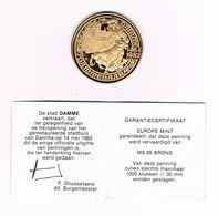 ¨ DAMME   DAMMENAAR 1464 - 1982  - 1.000 EX. - Tokens Of Communes