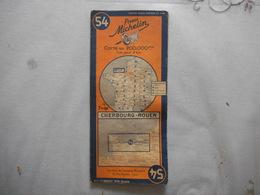 CARTE MICHELIN N° 54 CHERBOURG-ROUEN - Carte Stradali