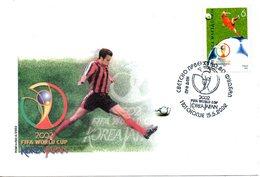 MACEDOINE. N°250 De 2002 Sur Enveloppe 1er Jour. Coupe Du Monde 2002. - Copa Mundial