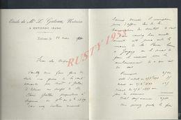 LETTRE ETUDE L GATEAU NOTAIRE À ESTISSAC 1890 : - Manuscripts