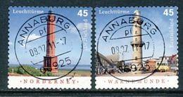 GERMANY Mi.Nr. 2875-2876 Leuchttürme - Used - BRD