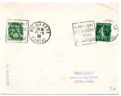 CANTAL - Dépt N° 15 = VIC Sur CERE 1929 (année En 2 Chiffres) = FLAMME DAGUIN ' 'AU PAYS VERT / STATION CLIMATIQUE ' - Marcophilie (Lettres)