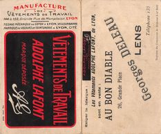 "07258 ""CALENDARIETTO 1925 - VETEMENTS DE TRAVAIL - ADOLPHE LAFONT - MANIFATTURA-TESSITURA-COTONE - LYON"" - Calendars"