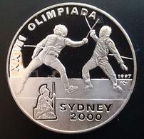 "CUBA 10 PESOS 1997 SILVER PROOF OLYMPIC ""XXVII Olympics Sydney""  (free Shipping Via Registered Air Mail) - Cuba"