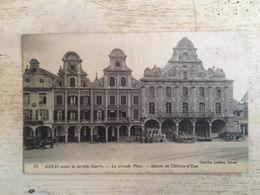 62 - CPA Animée ARRAS - La Grande Place - Avant La Terrible Guerre (Charles Ledieu, 75) - Arras