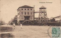 AK British Guiana Britisch Guayana Guyana Guyane Telephone Exchange Georgetown ? America Del Sur Timbre Stamp Colony - Surinam