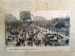 62 - CPA Animée ARRAS - Marché Aux Chevaux (B.D., 38) - Arras