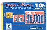 ECUADOR - BELL SOUTH (CHIP)   - PAGA MENOS: DISCOUNT 10% 36.000  - USED  -  RIF. 557 - Ecuador