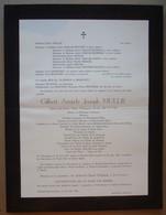 Faire-part Du Décès De Gilbert MULLIE, Epx Marie BRAFFORT, Dottignies 1876 - Woluwe 1962. - Avvisi Di Necrologio