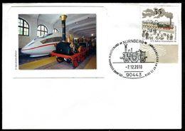 01506) BRD - Brief Michel 2833 - SoST Vom 07.12.2010 In 90443 NÜRNBERG, Dampflok Adler, 175 J. Eisenbahn In Deutschland - [7] West-Duitsland