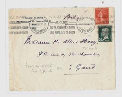 06 – Alpes Mmes « NICE » LSE - 20gr. - Tarif « BELGIQUE » à 1F25 (1.2.1926/31.7.1926)  N°195 - 1f05 Semeuse Camée - Storia Postale