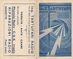"07260 ""CALENDARIETTO 1936-PRIMO TRIMESTRE 1935-1937-ING. F. TARTUFARI-RADIOFONIA-TORINO- OFFICINA RIPARAZ. APPAREC."" - Calendars"