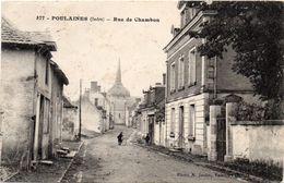 - POULAINES -1925- Rue De Chambon - France
