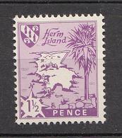 Herm Island  (Guernsey) -1965 1½d Redrawn Fraction Bar. - Unmounted Mint NHM - Guernesey