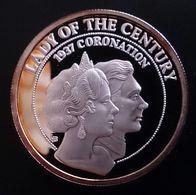 "Turks And Caicos Islands 5 CROWNS 1997 SILVER PROOF ""QUEEN ELIZABETH THE QUEEN MOTHER LADY OF THE CENTURY"" Free Shipping - Turks En Caicoseilanden"