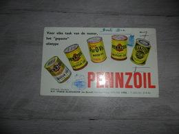 Buvard  Vloeipapier PENNZOIL  Motor Oil  Olie J. Dewulf  Yper  Ieper  Ypres - Hydrocarbures