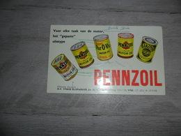 Buvard  Vloeipapier PENNZOIL  Motor Oil  Olie J. Dewulf  Yper  Ieper  Ypres - Gas, Garage, Oil