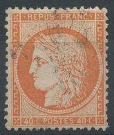 Lot N°39722  Variété/n°38, Oblit étoile Chiffrée De PARIS, Fond Ligné Horizontal - 1870 Siege Of Paris