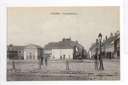 - CPA LILLERS (62) - La Grand'Place (avec Personnages) - Edition J. Poriche - - Lillers