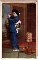 Japan-Beautiful-Japanese-GEISHA-Lady-in-Kimono-Japan-1923th-colour-PC - Japan