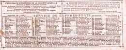BUVARD SOCIETE GENERALE SERVICE DES COFFRES FORTS A PARIS - Bank & Insurance