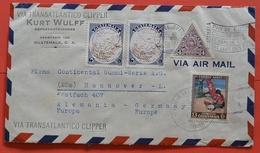 Sammler Brief Guatemala.via Transatlantico Clipper Siehe Scan - Guatemala