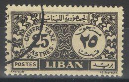 Liban - YT Taxe 2 Oblitéré - 1947 - Liban