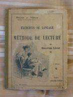 Exercices De Langage  Méthode De Lecture Deuxième  Livret 3è Ed. Delage & Vernay  Lib.Vuibert - 6-12 Years Old