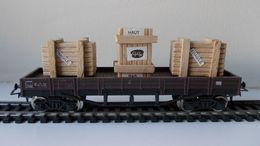 - GéGé - Wagon Plateau Avec 3 Caisses En Bois - - Goods Waggons (wagons)