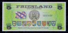 "5 Euro Note ""FRIESLAND""  Size 150 X 70, RRRRR, UNC Extrem Scarce!!! - EURO"