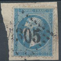 Lot N°39732  N°22/fragment, Oblit GC 4305 Vitry-le-Francois (49), Ind 2 - 1862 Napoleon III