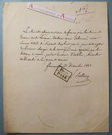 L.A.S 1842 Louis BELLOCQ - Ministre TOSCANE - Bateaux à Vapeur Florence Firenze Livourne Lettre Autographe Italie Italia - Autografi