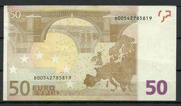 ESTONIA 50 EURO 2002 D-Serie Banknote RO51C4 - EURO